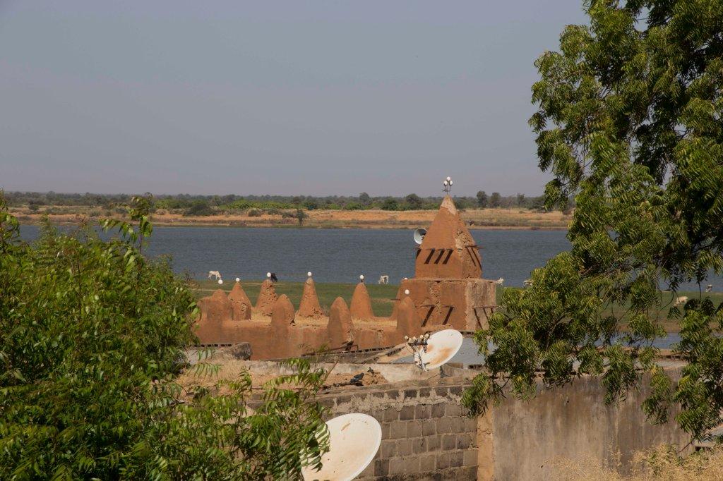 Mosque and Niger River - Segou Koro