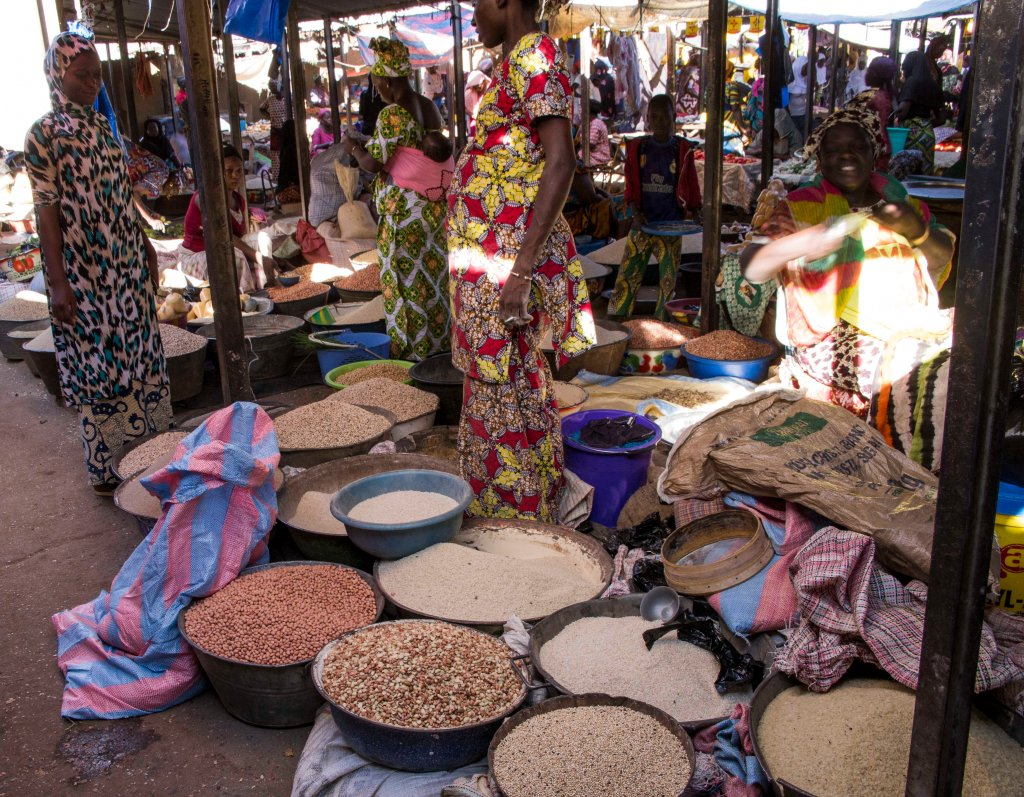 Pulses and grains in the market