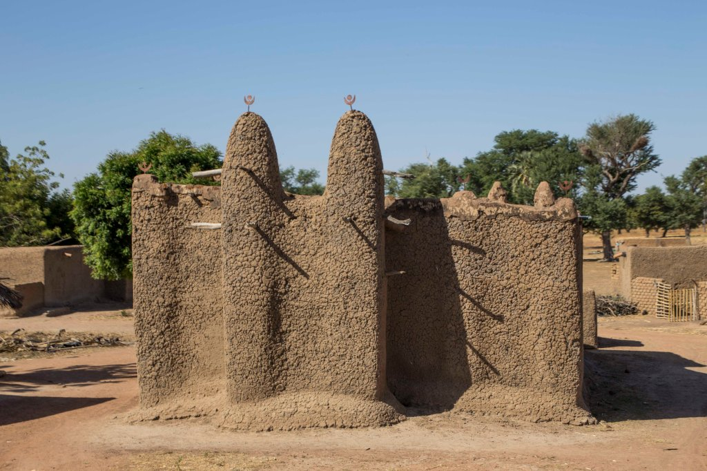 Small mud mosque in Mali